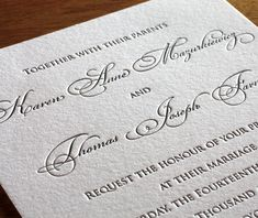 anne letterpress wedding invitation - elegant invitation design