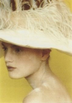 cotonblanc:    Guinevere van Seenusphotography paolo roversi make-up linda cantello  Yohji Yamamoto «Rewind/Forward», 238 Fashion Pictures, 1995–2000