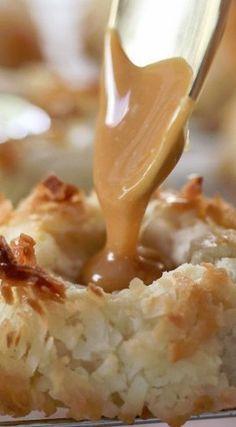 Salted Caramel Coconut Thumbprint Cookies