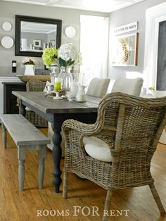 ~rooms FOR rent~: Our New Farmhouse Dining Table
