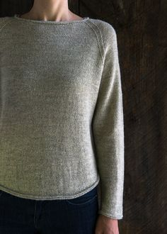 Ravelry: Lightweight Raglan Pullover pattern by Purl Soho Easy Sweater Knitting Patterns, Knitting Stitches, Knit Patterns, Summer Knitting, Baby Knitting, Crochet Shirt, Knit Crochet, Raglan Pullover, Purl Soho