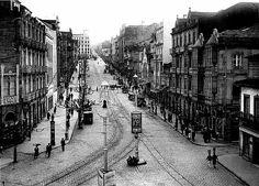 La calle Urzaiz, vista desde la actual calle del príncipe, sobre el año 1950.