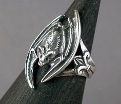 Bat Ring Silver - Gothic Bat Ring - Bat Jewelry Silver Bat Gothic Jewelry…