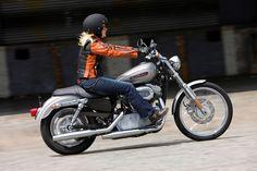 Harley Davidson Sportster Chick