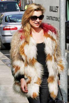 Do rocker fur like icon Kate Moss #furcoats