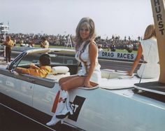 June Cochran on Hurst/Chrysler at  Indy
