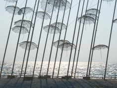 Promenade of Thessaloniki, Greece Greece Tourism, Travel Magazines, Thessaloniki, Umbrellas, Sculpture, Explore, Photos, Pictures, Photographs