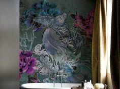 Les plus beaux papier peint salle de bains design