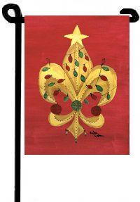 Fleur De Lis Garden Flag For The Holidays   Southern Living :0)   Pinterest    Garden Flags, Southern Living And Outdoor Spaces