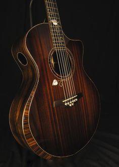 Stehr small jumbo guitar. Sinker redwood top over Brazilian rosewood