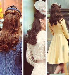 Ever wonder what to do with your hair while wearing a darling topper?  Here you go!  Hair Majesty.