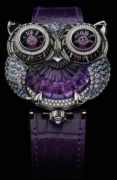 Owl watch and it's purple too, my favorite color! I wouldn't mind having this.