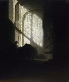 rembrandt-man-reading-empty-room.jpg (911×1080)