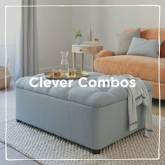 From pull-out, sofa, day bed and trundle beds, stash, store and squirrel with these clever combos! Chaise Chair, Living Room Sofa Design, Comfy Sofa, Guest Bed, Modular Sofa, Bespoke Design, Unique Furniture, Trundle Beds, Ottoman