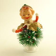 Vintage Christmas Pixie Elf