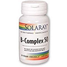 Solaray 50 mg B-Complex Capsule - Pack of 60 - http://vitamins-minerals-supplements.co.uk/product/solaray-50-mg-b-complex-capsule-pack-of-60/