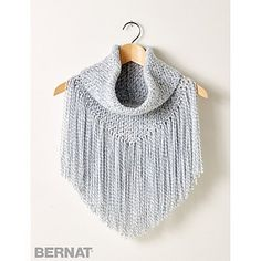 Add some fringe to your outfit with this cozy cowl! Easily crocheted in Bernat Super Value yarn.
