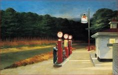 Gas/ Edward Hopper