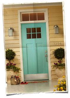 a new, old front door | gray