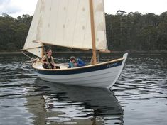 """Caledonia Yawl """"Eowyn"""" on launch day Wooden Boat Building, Boat Building Plans, Chesapeake Light Craft, Wooden Sailboat, Sailboat Plans, Sailing Dinghy, Small Sailboats, Boat Fashion, Boat Projects"""