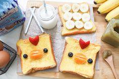 Banana French toast chicks