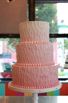 Pink Ombre Cake by Whipped Bakeshop, via Flickr