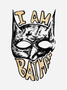 I AM BATMAN🦇 #batman #illustration #bat #comic #dccomics #art