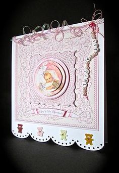 Card Gallery - New Baby Girl 7 inch Square Mini Kit