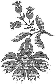 Crewel Embroidery - Long & Short as Soft Shading in Colors - Embroidery Patterns Russian Embroidery, Crewel Embroidery Kits, Embroidery Patterns Free, Embroidery Thread, Machine Embroidery, Embroidery Designs, Lesage, Pattern Art, Paisley Pattern