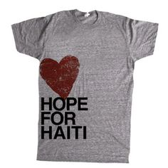 i should definitely get a shirt to support the orphans in Haiti