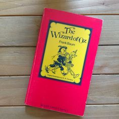 """Vintage """"The Wizard of Oz"""" Frank Baum Paperback Red and Yellow Illustrated Children's Book Classic by HouseofOHvintage on Etsy"""