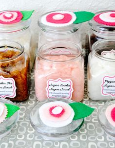 A Year of Sugar Scrubs: 24 Original Recipes for Hand and Foot Scrubs - *Spiced Chai Sugar Scrub*brown sugar+honey*peppermint*orange dreamsicle*sugar cookie*Caramel Frappe*Pina Colada*S'mores and more!