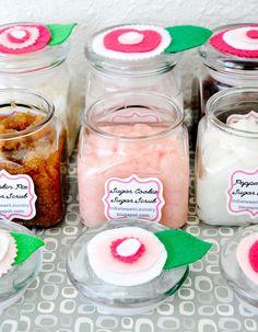 A Year of Sugar Scrubs: 24 Original Recipes for Hand and Foot Scrubs - *Spiced Chai Sugar Scrub*brown sugar+honey*peppermint*orange dreamsicle*sugar cookie*Caramel Frappe*Pina Colada*S'mores and more!
