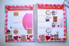A Blend Of Trend: FOR THE LOVE OF FEBRUARY: USING MY ERIN CONDREN PLANNER