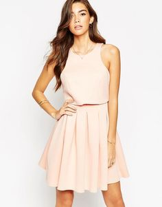 Платье с укороченным топом ASOS - Розовый
