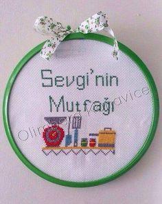 Kanaviçe Mutfak / Kitchen Cross Stitch made by me (olimbera)