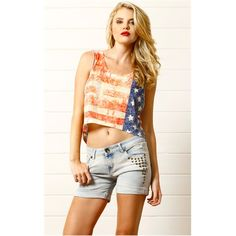 Independence Day Outfit! MS2921 Multi Burnout American Flag Tank and Womens Fashion Clothing & Shoes - Make Me Chic