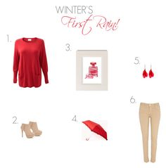 """""""Winter's First Rain!"""" by ladygatsby ❤ liked on Polyvore featuring Chanel, River Island, EAST, Forever 21, women's clothing, women, female, woman, misses and juniors"""