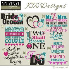 DIGITAL DOWNLOAD ... Wedding vectors in AI, EPS, GSD, & SVG formats @ My Vinyl Designer #myvinyldesigner #kwdesigns
