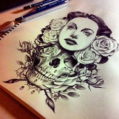Killer tattoo drawing.
