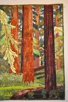 "Pacific Piecemakers Quilt Guild 2012 Challenge ""Among Giants"" by Judy Castleton"