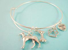 Greyhound Charm Bangle Bracelet