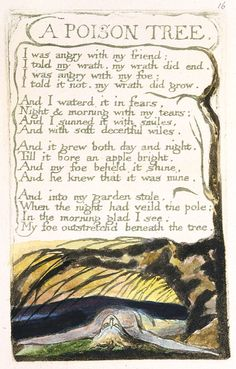quoth-the-raven-nevermore-lenore:  	A Poison Tree    By  William  Blake.