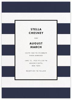 Stripe Suite (Invitation) - Navy - Paperless Post