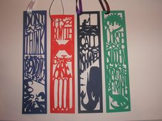 Papercut Bookmarks by ~freaky-dragonlady on deviantART—2nd bookmark to the left :)