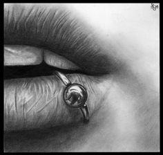 Lip Pierced by missperple on deviantART