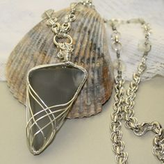 Broken Windshield Glass tumbled mimics the look of beach glass | CommonElements - Jewelry on ArtFire
