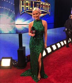 Renee Young at HOF Jonathan Lee, Wrestling Divas, Total Divas, Prom Dresses, Formal Dresses, Reality Tv, Wwe, Superstar, Beautiful Women