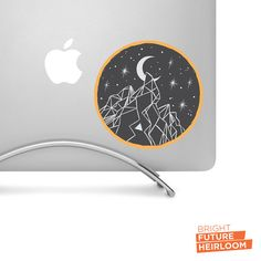 Boho Mountain Badge  - Printed Vinyl Decal - Perfect For laptops tablets cars trucks SUVs and more! by BrightFutureHeirloom