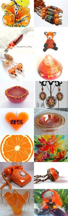 Tangy Oranges...... by ROSE on Etsy--Pinned with TreasuryPin.com
